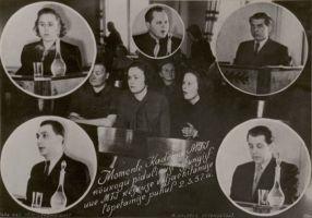 Fotomontaaž Kadrina MTJ pidulikust istungist 1957.a., PM F 444, Järvamaa Muuseum, http://www.muis.ee/museaalview/1242600.
