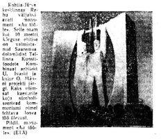 """Kohtla-Järvel avati monument """"Au tööle"""", """"Punane Täht"""" 11.11.1967."""
