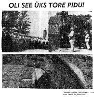 """Tallinnas juubelilaulupeo mälestuskivi avamine, """"Punane Täht"""" 3.07.1969."""