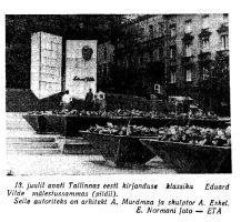 """Tallinna vanalinnas avati monument Eduard Vildele, """"Punane Täht"""" 21.07.1965."""