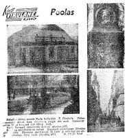 """Monument helilooja Chopinile Poolas, """"Punane Täht"""" 23.08.1969."""
