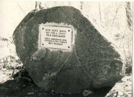 Fr.R.Faehlmanni mälestuskivi Aos, 1971. RM F 757:28, SA Virumaa Muuseumid, http://www.muis.ee/museaalview/1674704.