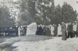 Mälestuskivi avamine. 25. septembril 1960. Rakke muuseumi kogu.
