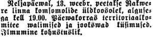Punane Virumaa, 11.02.1941
