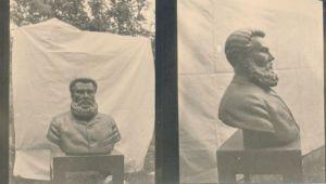 Foto. Juhan Kunder (1852-1888), Rakvere, graniit ja pronks, kõrgus 2,1 m, 1937. Foto: Roman Haavamägi., HM F 816 Ff, Haapsalu ja Läänemaa Muuseumid SA, http://muis.ee/museaalview/1410283.