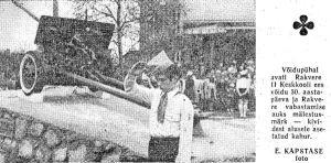 """Avamisest oli teade ja foto ajalehes """"Punane Täht"""" 15.05.1975."""