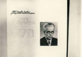 Fotonäitus Akadeemik Karl Orviku elust, RM F 797:8, SA Virumaa Muuseumid, http://www.muis.ee/museaalview/1744993.