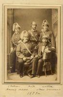Rakvere tuletõrjujate esindajad Tartus/Rakvere tuletõrje seltsi juhatus. Ees vasakult: M. Schoelisch, N. Dehio. Seisavad: C. Baldemann, B. Nude, W.W.Trellin.  Foto: Carl Borchardt, 1879. RM F 132:6, SA Virumaa Muuseumid, http://www.muis.ee/museaalview/1925488.
