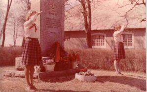 Pioneeride üritused vennashaua juures. Uhtna raamatukogu.