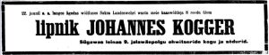 "Ajaleht ""Vaba Maa"", 26.06.1919, lk. 4."