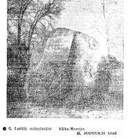 """Foto mälestuskivist on ajalehes """"Punane Täht"""" 23.10.1973."""