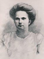 Revolutsioonilisest liikumisest osavõtja Alice Tisleri portree. 1970. TM F 74:8, Tartu Linnaajaloo Muuseumid / Tartu Linnamuuseum, http://www.muis.ee/museaalview/3276647.